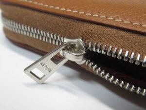 エルメス シルクインコンパクト お財布 ジッパー修理 修理後3